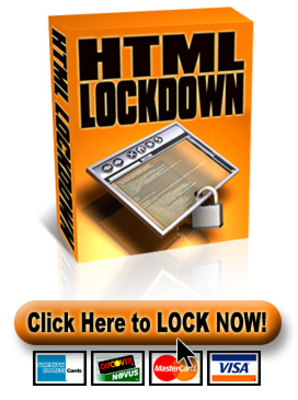 Product picture *NEW!* HTML Lockdown Software With Resale Rights