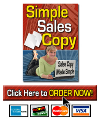 Product picture  *NEW!* Simple Sales Copy With Resale Rights