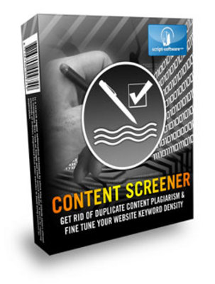 Product picture *NEW!* Content Screener With Resale Rights
