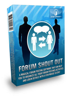 Product picture *NEW!* Forum ShoutOut Software with Resale Rights