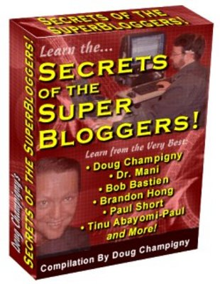 Product picture Secrets of the Super Bloggers! - WITH MASTER RESALE RIGHTS